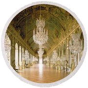 Hall Of Mirrors  The Galerie Des Glaces Round Beach Towel