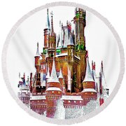 Hall Of The Snow King  Round Beach Towel