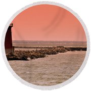 Halladay Round Beach Towel by Trish Tritz