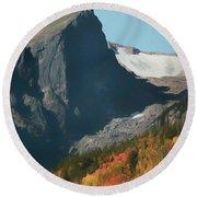 Hallett Peak Fall Colors Round Beach Towel