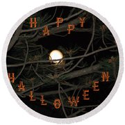 Halloween Card Round Beach Towel