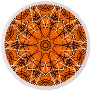 Halloween Kaleidoscope 12 Round Beach Towel