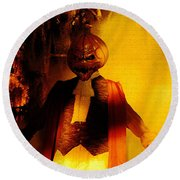 Halloween Nightmare Round Beach Towel