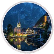 Hallstat Village Round Beach Towel