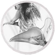 Halo Round Beach Towel