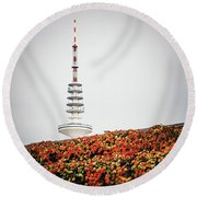 Hamburg - Tv Tower Round Beach Towel