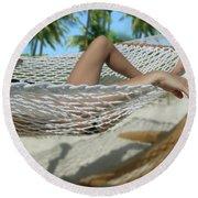 Hammock Heaven Round Beach Towel
