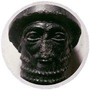 Hammurabi (d. 1750 B.c.) Round Beach Towel