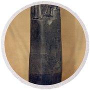 Hammurabis Code Round Beach Towel