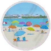 Hampton Beach And Boars Head Round Beach Towel