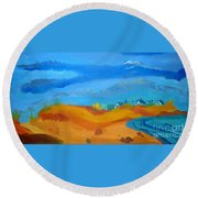 Hampton Dunes Round Beach Towel