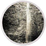 Hanakapiai Falls, Kauai, Hi Round Beach Towel by T Brian Jones