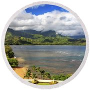 Hanalei Bay Round Beach Towel