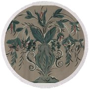 Hand Painted Wall Round Beach Towel