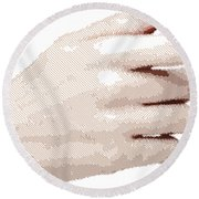 Hand - Parallel Hatching Round Beach Towel