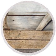 Hand Tool - Old Wood Planer Round Beach Towel