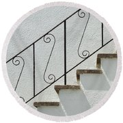 Handrail And Steps 2 Round Beach Towel