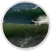Hang On For Dear Life Round Beach Towel