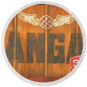 Hangar Bar Entrance Sign Round Beach Towel