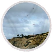 Hanggliders Round Beach Towel