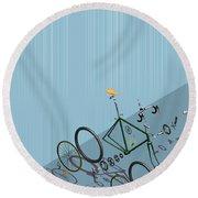 Hanging Bike Round Beach Towel