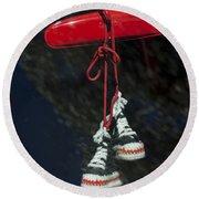 Hanging Hightops Round Beach Towel