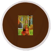 Hanging In The Park Round Beach Towel