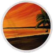 Hanging Out At The Beach #153 Round Beach Towel