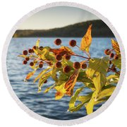 Hanging Out At The Lake Round Beach Towel