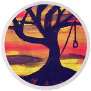 Hanging Tree Round Beach Towel