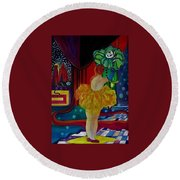 Hanging Up The Clown Round Beach Towel