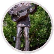 Hank Williams Statue - Montgomery Alabama Round Beach Towel