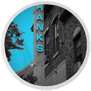 Hanks Oyster Bar Round Beach Towel