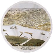 Hannibal, Missouri, 1869 Round Beach Towel