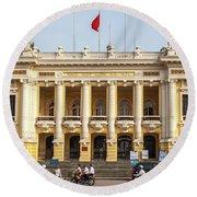 Hanoi Opera House 01 Round Beach Towel