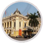 Hanoi Opera House 02 Round Beach Towel