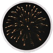 Happy 4th.from Palm Desert 7 Round Beach Towel