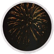 Happy 4th.from Palm Desert 8 Round Beach Towel