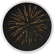 Happy 4th.from Palm Desert 9 Round Beach Towel