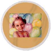 Happy Balloons Round Beach Towel