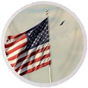 Happy Birthday America Round Beach Towel