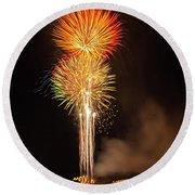 Happy Birthday, United States Of America 9 Round Beach Towel