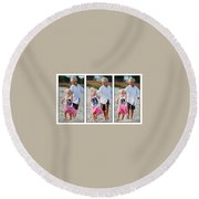 Happy Contest 15 Round Beach Towel