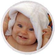 Happy Contest 7 Round Beach Towel