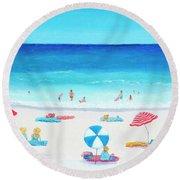 Happy Days 1 Round Beach Towel