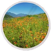 Happy Days In Walker Canyon Round Beach Towel