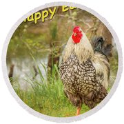 Happy Easter Round Beach Towel