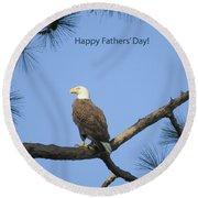 Happy Father's Day Round Beach Towel