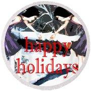 Happy Holidays 30 Round Beach Towel