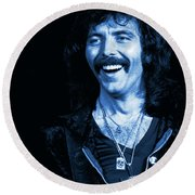 Happy Iommi Blues Round Beach Towel
